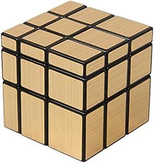 Mirror Blocks magic cube Rubik's cube 3X3-Golden,F2C