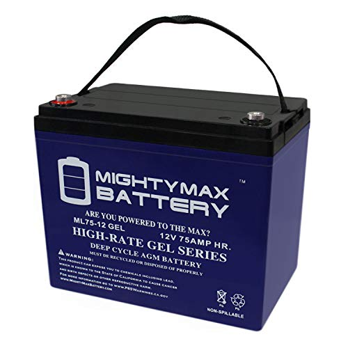 Mighty Max Battery 12V 75AH Gel Battery Replaces BCI Group 24M Starting Marine & RV Brand Product