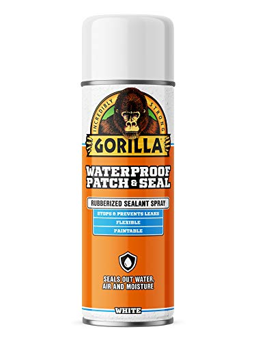 Gorilla Waterproof Patch & Seal Spray, White, 14 Ounces, 1 Pack