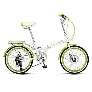 41UvvgQmG6L. SS300 DODOBD Bicicletta Pieghevole 20 Pollici, 7 velocità Variabile, Telaio in Acciaio ad Alto Tenore di Carbonio Folding Bike Adatto per Adulti Donne Uomini e Adolescenti Bici da Città
