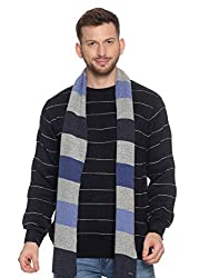 513 Mens Striped Muffler (Free Size, Multicolour)
