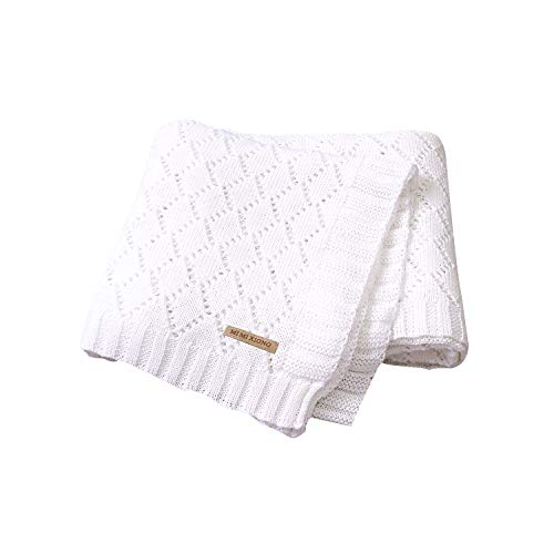 mimixiong Toddler Blankets Knitted Cellular Baby Blankets...