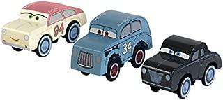 "Disney KIDKRAFT Pixar Cars 3 Legends 3pk Wooden Cars with River Scott, Louise ""Barnstormer"" Nash, Tucker Moon"