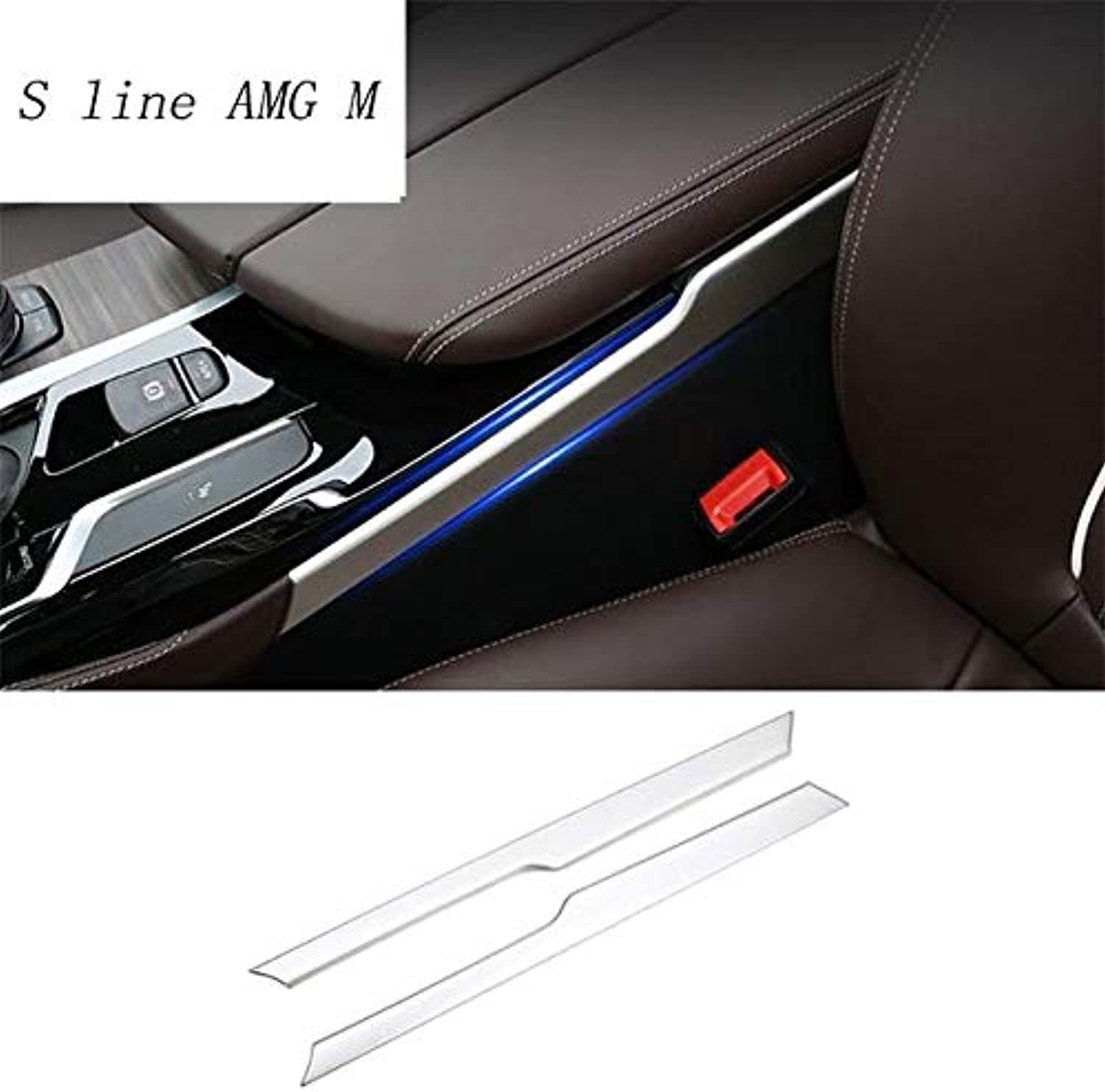 Car Styling Gear Shift Panel Decorative Strip auto Covers Stickers Trim for BMW 5 Series G30 G38 2018 Interior auto Accessories - (color Name  Silver)