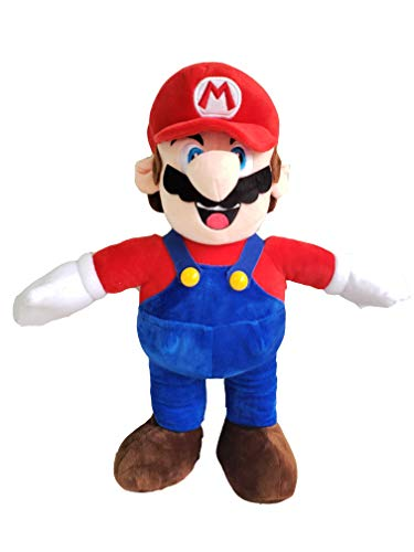 illuOKey Super Mario Plush Doll Mario Soft Stuffed Plush Toys - 16.5 inches (Mario)