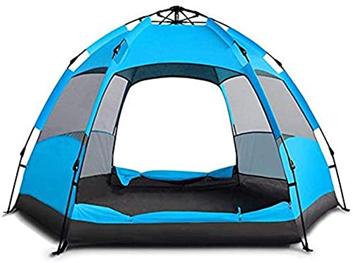 JSL Thermo Insulated Automatic tent 3-4 people double hex big tent outdoor camping tent Survival cycling adventure windproof waterproof picnic warm mountain climbing fishing 240 * 240 * 135 (Color