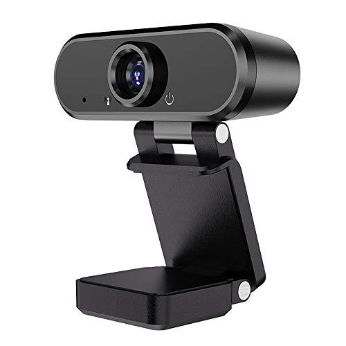 LZRDZSWYXGS Webcam de la cámara 1080p HD del Ordenador, cámara Web con micrófono, Gratuito Unidad USB Interfaz, ángulo de 90 Grados de Vista, for el Ordenador portátil PC de Escritorio videollamadas,