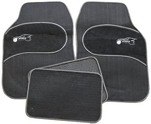 Fiat 500 500L 500C Universal GREY Trim Black Carpet Cloth Car Mats Set
