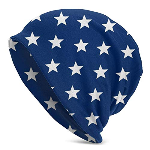 Mxung USA Flag StarUnisex Mujeres Hombres Slouchy Beanie Hat Gorro de Calavera Holgado de Gran tamao Gorro de Punto elstico