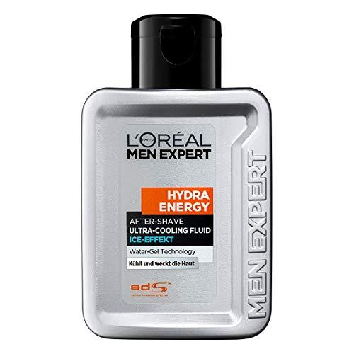 L'Oréal Paris Men Expert After Shave und Gesichtspflege für Männer, Gegen Rasurbrand, Rötungen und Hautirritationen, Hydra Energy, 1 x 100 ml