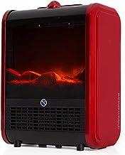 Suinga Chimenea eléctrica con Efecto Fuego Real y diseño en Color Rojo y Negro. Potencia de 1500 W con selector de 3 Posiciones.
