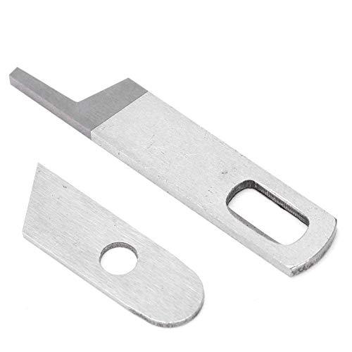 2Pcs Sewing Machine Blade, Multi-Function Household Overlocker Upper and Lower Knife Set Fit for Singer BABYLOCK SERGER MODELS-BL202 BL302 BL400