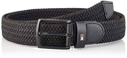 Tommy Hilfiger Denton Elastic 3.5, Cinturón Hombre, Negro, 90 cm