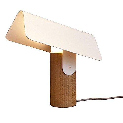 Carbet, lampe à poser, hêtre massif et acier laqué, design éco-responsable - lampe à poser