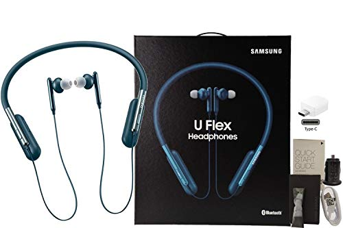 Samsung U Flex Bluetooth Wireless in-Ear Headphones HD Premium Sound and Mic - with Car-Charger 4FT USB C OTG Kit (US Model - Retail Packing)