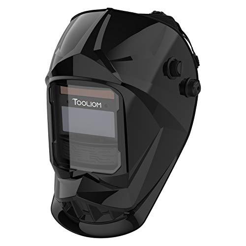 TOOLIOM Welding Helmet Auto Darkening True Color Solar Powered Welding Mask for MIG TIG Arc Welder