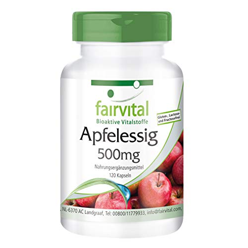 Appel Ciderazijn capsules - 500 mg cider azijn per capsule -VEGAN - HOOG GEDOSEERD - 120 capsules