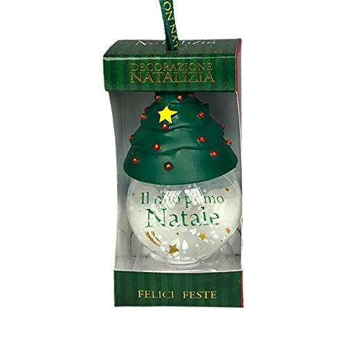 H&H Pallina Di Neve Personalizzata - Il Mio Primo Natale