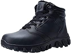 40%OFF Barerun Mens Winter Boots Fur Lined Warm Outdoor Hiking Waterproof Snow Boots for Men