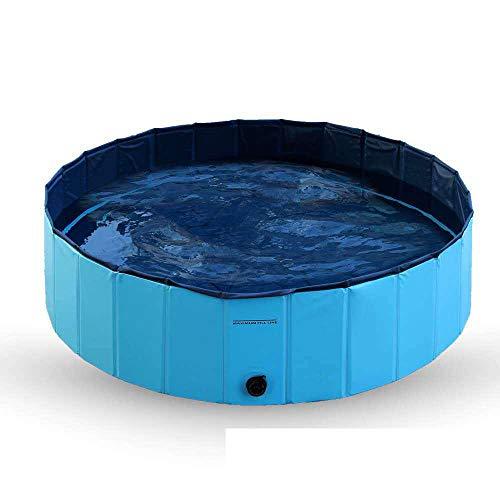 Topashe Faltbarer Pool Hundebadewanne,PVC Faltbad Pool, Haustier Pool-80 * 20cm,Doggy Pool Badewanne Pool