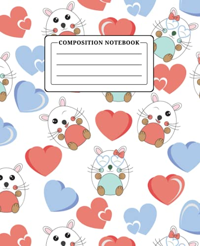 Hamster Composition Notebook Wide Ruled: 150 Pages Blank Lined Journal for Girls Boys Teens and Tweens, Notebook for School and College Students, Hamster Gifts for Hamster Lovers