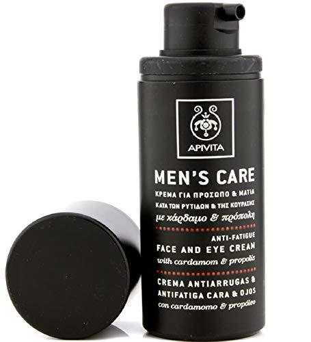 APIVITA MENS CARE Anti-Wrinkle, Anti-Fatigue Face and Eye Cream with cardamom & propolis 50ml