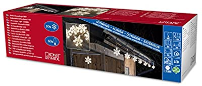 Konstsmide Decoration Outdoor 10 Acrylic Snowflakes Light String with 60 LEDs - Warm White FREE DELIVERY
