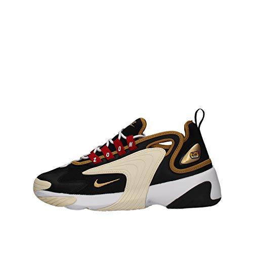 Nike Wmns Zoom 2K, Scarpe da Running Donna, Nero (Black/Metallic Gold/White/Sail 005), 38 EU