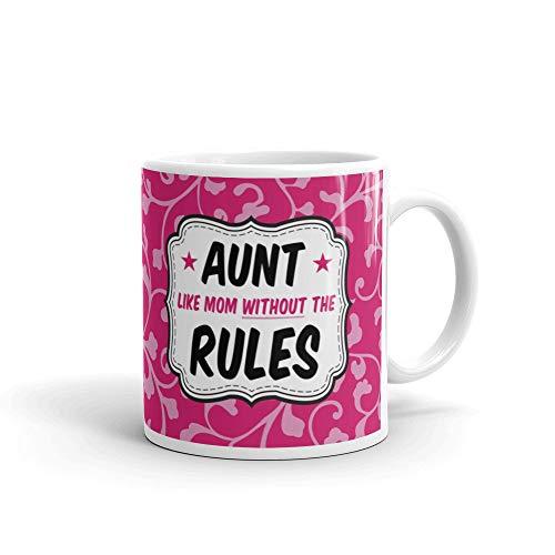 Gifts for Tía como mamá sin las reglas divertida taza de café