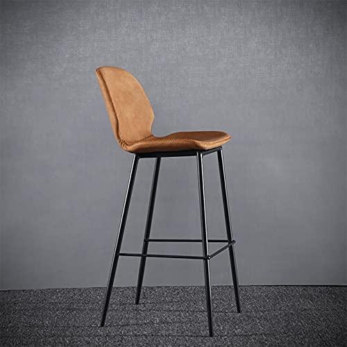 Taburete de bar para cafetería, silla alta de metal, taburete de bar de ocio, taburete de comedor, taburete de bar industrial retro, taburete con respaldo, taburete alto antideslizante, adecuado par