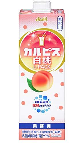 アサヒ飲料 「カルピス」 白桃Lパック 紙容器 1000ml ×6本