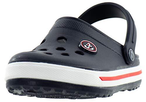 Beppi Kinder Clogs - Kinderschuhe Kleinkinder Schuhe Blau Gr. 21