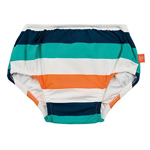 LÄSSIG Baby Schwimmwindel Badewindel wiederverwendbar waschbar Auslaufschutz UV-Schutz/Splash & Fun Baby Swim Diaper, Multistripe, 6 Monate