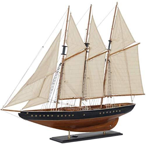 Decoraciones para la Sala de Estar Modelo de velero de Madera marrn Barco Retro Inicio Adornos creativos Artesanas Hechas a Mano Sala de Estar Dormitorio Coleccin Regalos
