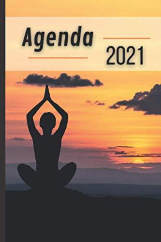 Agenda: Zen Bien être Bonheur Bouddha Spirituel Méditation Chakra Pensée Positive Yoga | Semainier A6 Hebdomadaire en Français Petit Format de Poche