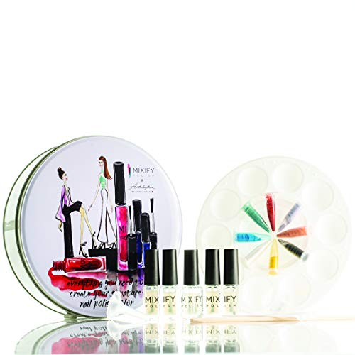 Mixify Make your own Nail Polish Kit, Limited Edition Tin, Fun Gift for Girls