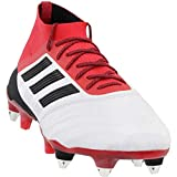 adidas Predator 18.1 Soft Ground Leather Soccer Casual Cleats (Men's), White, 7