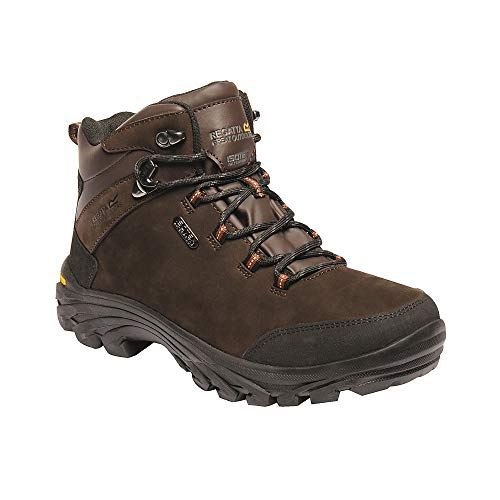 Regatta Great Outdoors Mens Burrell Leather Hiking Boots (US 10) (Fawn Brown)