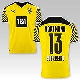 PUMA BVB Heimtrikot Kinder Saison 2021/22, Größe:176, Spielername:13 Guerreiro