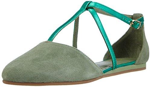 flip*flop Damen Merida Geschlossene Sandalen mit Keilabsatz, Grün (321 Turtle), 36