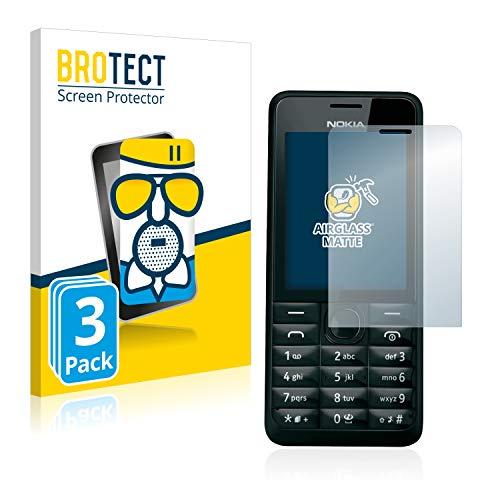 brotect Pellicola Vetro Opaca Compatibile con Nokia 301 (3 Pezzi) Protezione Schermo Anti-Riflesso Durezza 9H, AirGlass