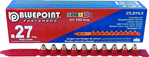 BLUEPOINT .27 Caliber RED Strip Powder Loads. 5-PACK (500 - Count). Item# 27LS11L5. YOU SAVE $10.00