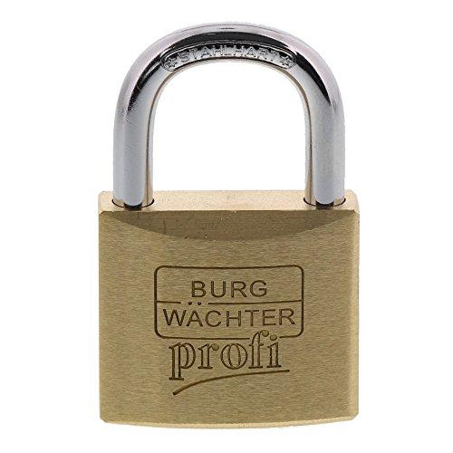 Burg-Wächter Vorhängeschloss, Profi 116 40 SB, Inkl. 2 Schlüssel, Bügelstärke: 6 mm