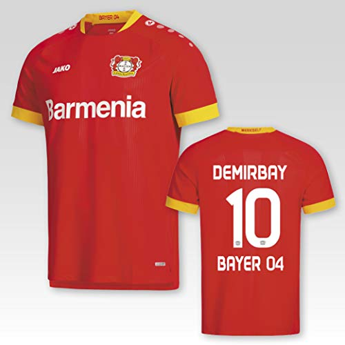 JAKO Bayer 04 Leverkusen Away Auswärtstrikot 2020/21 Kinder mit Spielerflock Demirbay Nr. 10 (128)