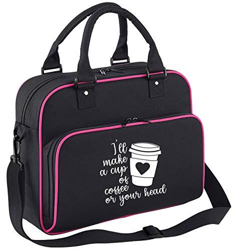 Flox Creative Tanztasche für Kinder in Schwarz und Pink für eine Tasse Kaffee für Ihren Kopf.