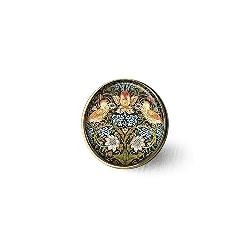 qws William Morris Brosche Erdbeerdieb Art von William Morris Art Schmuck William Morris Brosche Jugendstil