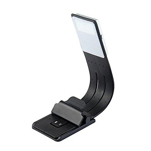 symboat luz portátil de libro de lectura LED con la lámpara recargable desmontable de grapa USB para los reproductores de Kindle/eBook