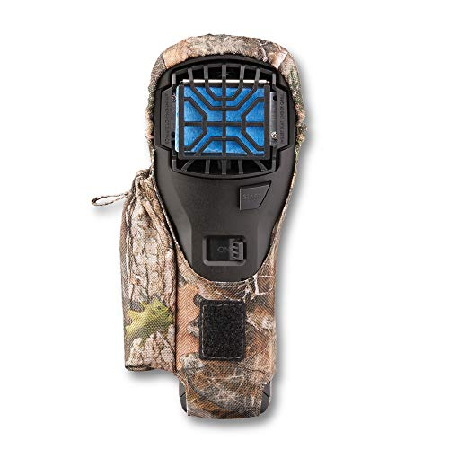 Thermacell MR300F Portable Mosquito Repeller, Black, Camo Holster; Contains Fuel Cartridge, 3 Mosquito Repellent Mats; 15-ft Zone of Protection, 12 Hours of Mosquito-Free Relief Included