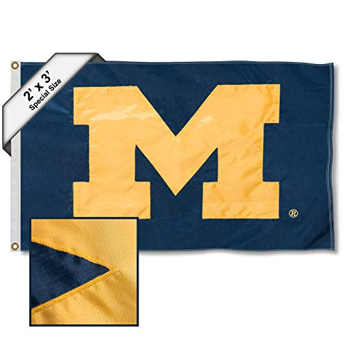 College Flags & Banners Co. Michigan Wolverines 2x3 Foot Embroidered Flag