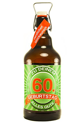 SünGross Riesenbierflasche XXL-Bierflasche zum 60. Geburtstag
